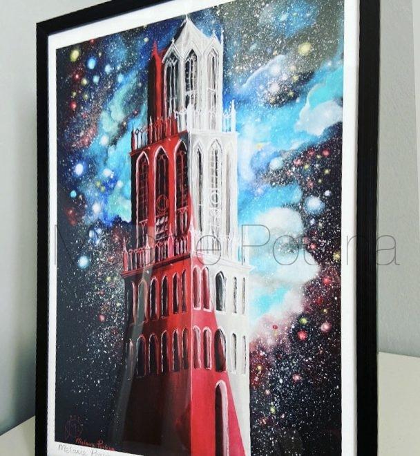 Limited Edition print Utrecht domtoren Mystical